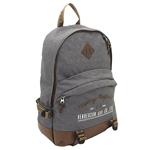 F23 Rucksack - Reiserucksack Heritage-Serie in grau-meliert - 2 Fächer, Reißverschluss, gepolsterte Schultergurte, 24L