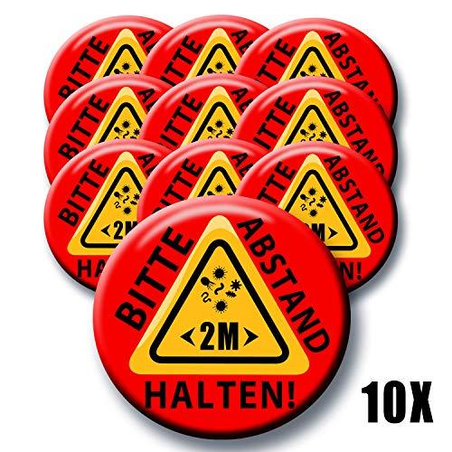 Polarkind button aansteker 10 XXL spar set gelieve 2 m afstand te houden waarschuwing grip virusbescherming 6 cm
