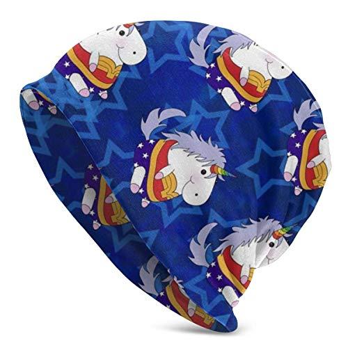 Merveille Licorne Bleu Star Chapeau Hommes Stripe Conception Mens Chapeau d'hiver Cadeau d'hiver de Noël Simple Nouveau de Plein Air Fit de Noël