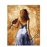 Pintura de bricolaje por números pintura al óleo pintada a mano de base cero pintura de imagen de bailarina regalo único decoración del hogar A1 60x80cm
