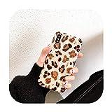 Coque-A-For iPhone 7 8 Plus Coque en TPU souple Motif léopard Doré pailleté