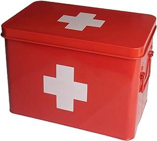 Garneck Medication Box Organizer Compartments First Aid Chest Medicine Chest Organizer Box Prescription Storage Box for Ho...