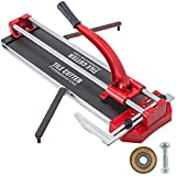 Mophorn 31 Inch Manual Tile Cutter Double Rails, Professional Tile Cutter W/Alloy Cutting Wheel for Porcelain and Ceramic Tiles