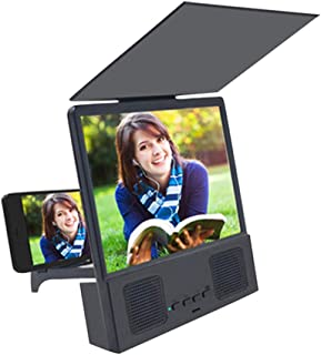 KJRJFD 12in Screen Magnifier 3D Smart Mobile Phone Movies Amplifier with Lazy Bracket for Any Smartphone Screen Amplifier Detachable