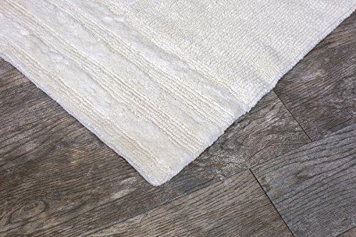 Grund Certified 100% Organic Cotton Reversible Bath Mat, Puro Premium Series, 21-Inch by 34-Inch, Ivory