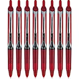 PILOT Precise V5 RT Refillable & Retractable Liquid Ink Rolling Ball Pens, Extra Fine Point (0.5mm) Red, 8-Pack (15334)