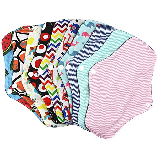 GSHHD0 herbruikbare sanitair-tabs, menstruatiestaafjes, voor dames, hygiënische vulling, bamboe, antraciet, wasbaar, menstruatiedoek, tabs, panty's, kleur willekeurig