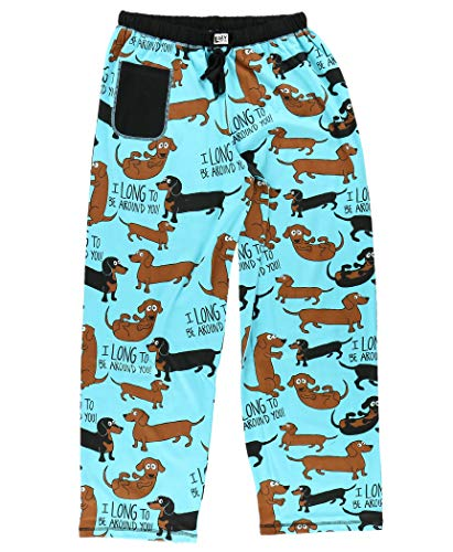 Lazy One Pajamas for Women, Cute Pajama Pants and Top Set, Separates, Dog, Dachshund, Animal