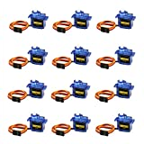 12PCS SG90 Micro Servo Motor, Dorhea Mini Servo SG90 9g Servo Kit for RC Helicopter Airplane Car Boat Robot Arm/Hand/Walking/Servo Door Lock Control with Dupont Cable Compatible with Arduino