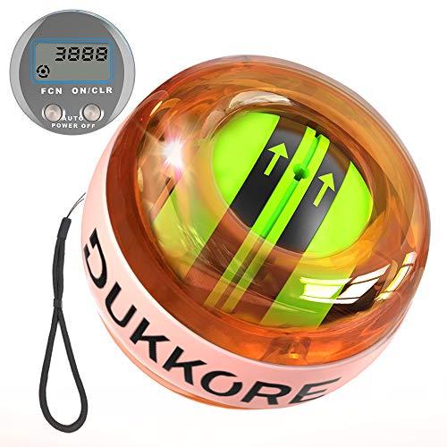 DUKKORE スナップボール オートスタット 計数機能 LED発光 手首 筋力 トレーニング