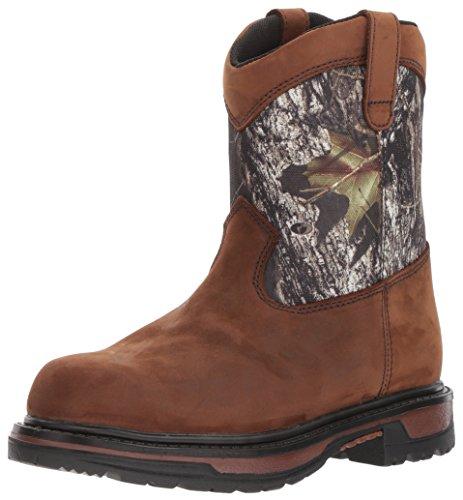 Rocky unisex child Fq0003633 Mid Calf Boot, Brown Mossy Oak Breakup Camouflage, 6 Big Kid US