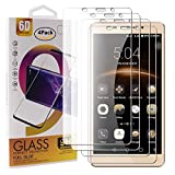 Guran 4 Paquete Cristal Templado Protector de Pantalla para Leagoo M8 Pro/Leagoo M8 Smartphone 9H Dureza Anti-Ara?azos Alta Definicion Transparente Película