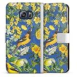 DeinDesign Étui Compatible avec Samsung Galaxy S6 Edge Plus Étui Folio Étui magnétique Oiseau...