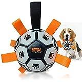 Royal Pets House Dog Pallone da calcio galleggiante con cinghie per una presa facile | Gio...