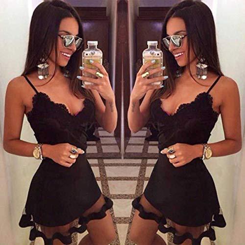 MEILINVREN Vestidos para,Última Mujer Casual Verano Sleevelessevening Beach Club Fiesta Vestido Corto Mini Vestidos Tendencia