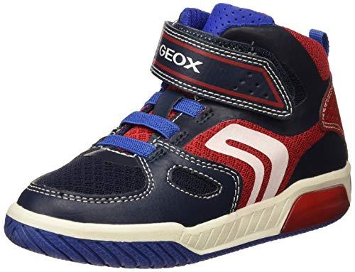 Geox Jungen J INEK BOY A Hohe Sneaker Blau (Navy/Red C0735) 24 EU