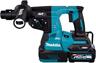 Makita HR004GD203 40V Max XGT Brushless Rotary Hammer Complete with 2 x 2.5 Ah Batteries, Fast Charger and Interchangeable...