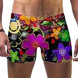 FHJRTHYE5TYG Hombres Abstracto Flores Flores Decorativas Trajes De Baño Trajes De Baño Pantalones Cortos Atleticos Bóxer Calzoncillos Boardshorts, multicolor, M
