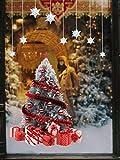 Yuson Girl Weihnachten Aufkleber Fenster Groß Süß Elch Und Weihnachtsbaum Abnehmbare Weihnachten Deko Wandtattoo Weihnachten Statisch Haftende PVC Aufkleber Fensteraufkleber Wandaufkleber Weihnachten - 7