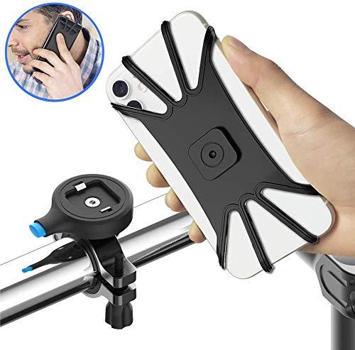 ASEDRF Soporte para Bicicleta De Teléfono, Titular De Aleación De Aluminio Una Segunda Bicicleta De Lanzamiento, Motocicleta Universal del Montaje del Manillar Compatible con iPhone Móviles