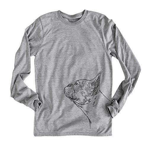 Inkopious French Bulldog Profile Unisex Long Sleeve T-Shirt Xtra Large Grey