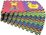 Star Ibaby Alfombra Puzzle Bebé 36 Piezas - 195x195 cm - Espuma XPE Ecologica - No tóxica - Modelo Animals. A partir de 36 meses