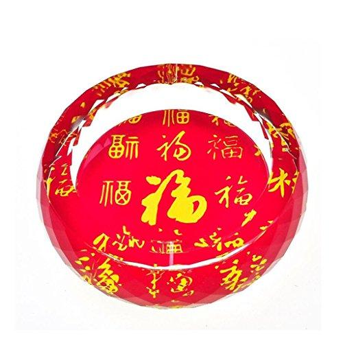 cendrier Xuan - worth having Word 3D pour l'exemple Style d'impression couleur verre rond en verre Accueil Décoration de salon (taille : 13 cm)