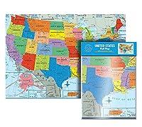 究極のジャンボ米国壁マップ | 米国マップポスター - 米国50州 40インチ x 28インチ すべての主要都市を含む