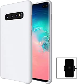 evershare Galaxy S10 Plus Case Soft Liquid Silicone Ultra-Thin Lightweight Shockproof Slim Fit Cover for Galaxy S10 Plus, White