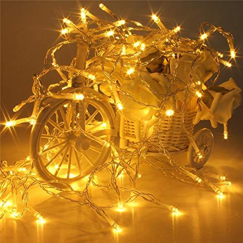 Lichtketting, feeënlichtsnoer, werkt op batterijen, decoratief, verlicht, kleine lampen, knipperende lampen, constant, wit, 1,5 m, 10 lampen