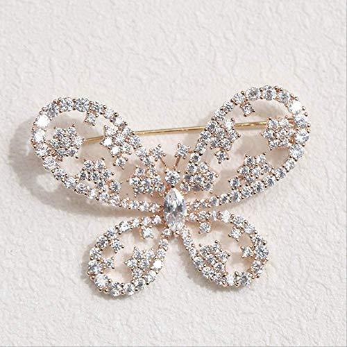 YUXIwang Broche de Corea del Estilo Pin de la Mariposa Delicada, Temperamento Salvaje Retro Ramillete Collar, 4.9 * 3.4cm