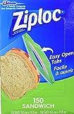 Ziploc 71135 Sandwich Bags, Pack of 150, 6.5 x 5.875-Inch (16.5 cm x 14.9 cm)
