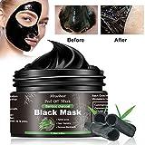 Black Mask, Masque Peel Off, Masque Charbon Point Noir, Supprime Points Noirs/Acné,Nettoyant en Profondeur Rétrécir Pores,Pour Une Peau Pure Lisse-120G