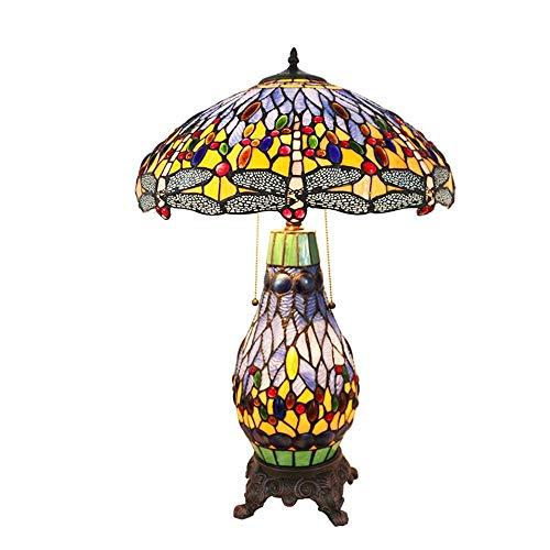GDICONIC Lámpara de Mesa Lámpara de Mesa/lámpara de Sala de Estar, Bar Restaurante, lámpara de café, iluminación de Club de Alta Gama, lámpara de vitrales, lámpara Madre (Color:Azul) (Color : Blue)