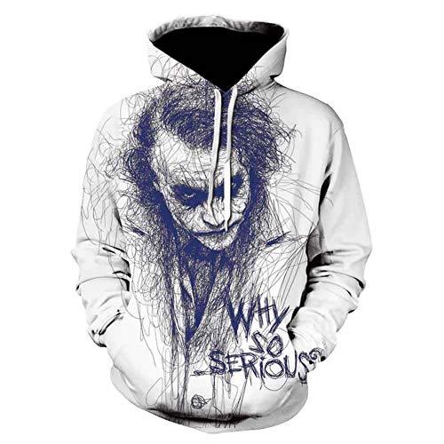 3D Digitale Print Sweatshirt Heath Ledger Sweater Clown Hoodie Draagbare Ademende Comfortabele Jas Mannen
