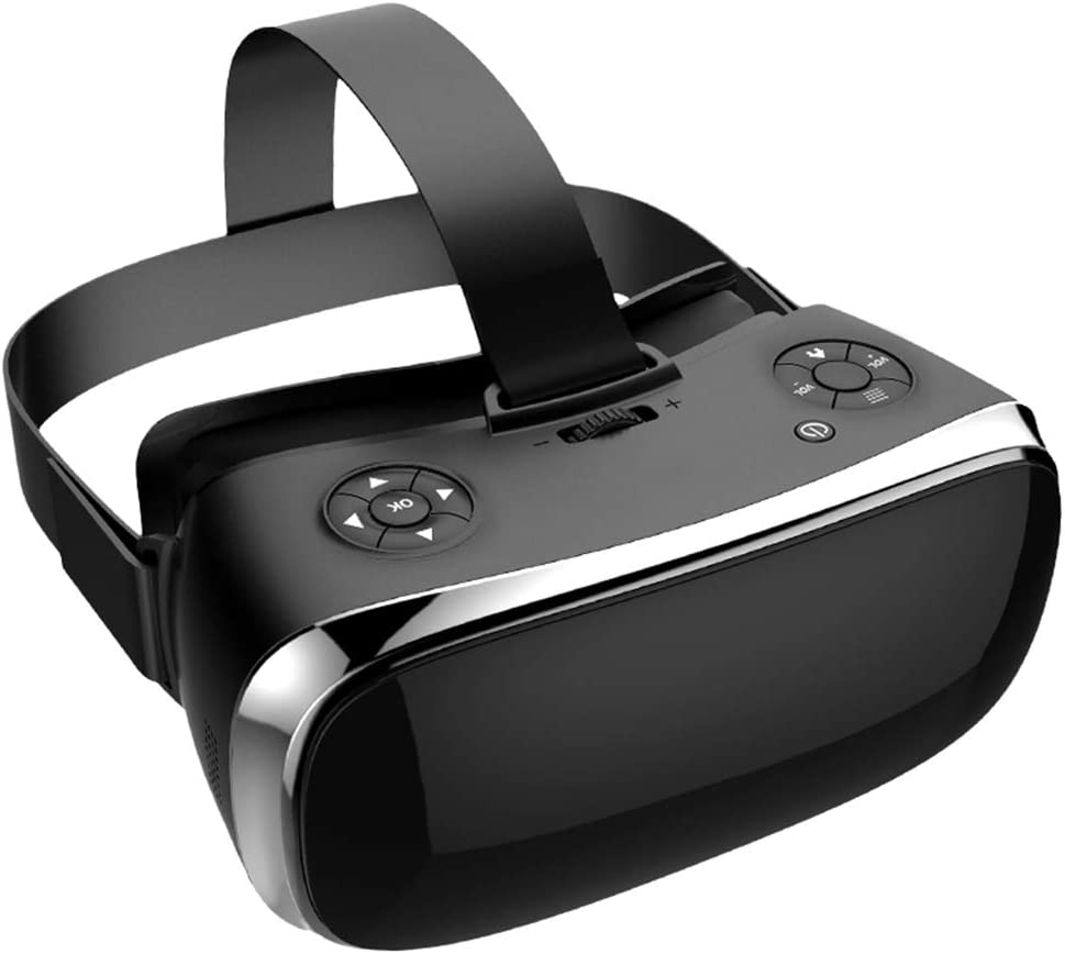 V3H All-in-One Vr Box with Gamepad Virtual Reality Headset/ Helmet Intergrated VR Box Headset with Independent Andriod Operation System DHL (Black)