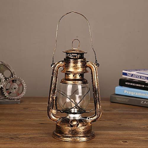 CUIRUI Old Style Petroleumlampe, Tragbare Öllampe Pferd Laterne Schmiedeeisen Outdoor-Camping-Grundlampe Fotografie Requisiten Retro Ornament Display Petroleumlampe (Color : A)
