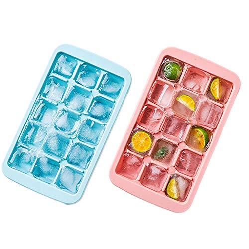 2-pack herbruikbare siliconen babyschaal, opbergbak voor diepvriesdozen met verwijderbare clip-on deksel, voor gekoelde drankjes, zelfgemaakte babyvoeding, groente