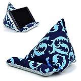 Fabric Phone Stands,Phone Pillow Holder for iPhone X iPhone 8 ,Phone Sofa Bean Bag Cushion (Blue)