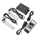 KIMISS Caja de sintonizador de TV, Receptor de TV Digital Potente y Funcional DVB-T MPEG-4 Caja de sintonizador de Antena Dual Accesorio para automóvil