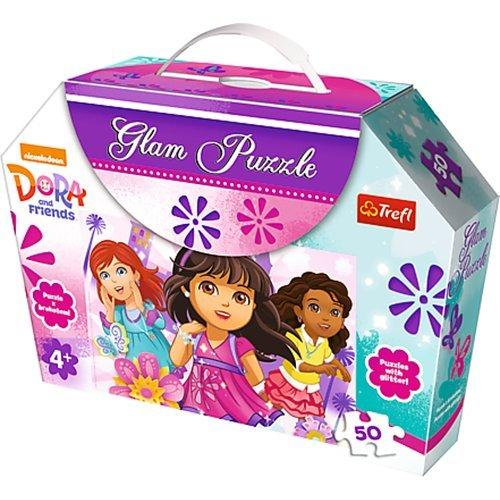 TREFL 14814 - Puzzle con Purpurina (50 Piezas), diseño de Dora y Amigos