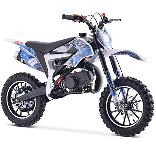 XtremepowerUS 50.5cc Mini Off-Road Dirt Bike Pocket Ride-On Bike EPA (Blue/Black)
