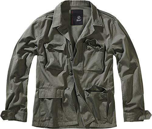 Brandit Veste Militaire Homme Veste mi-saison olive XL, 100% Coton,