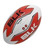 BLK - SOLAR - Ballon de Rugby - Spécial Training - Cousu main - blanc/rouge/noir