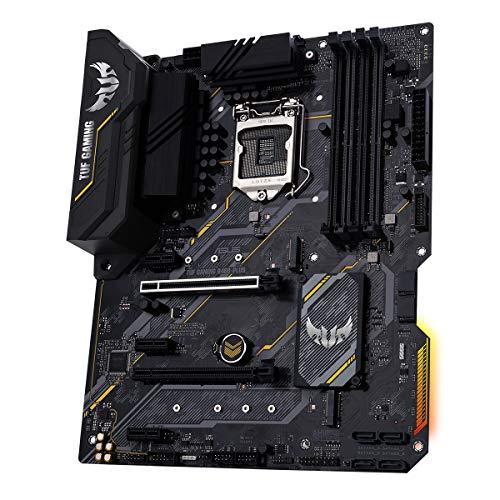 ASUS TUF GAMING B460-PLUS, Scheda madre Intel B460 (LGA 1200) ATX con doppio M.2, 8 livelli di potenza, HDMI, DisplayPort, SATA 6Gbps, porta USB 3.2 Gen 1,Aura Sync RGB