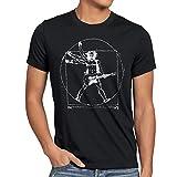 Style3 Da Vinci Rock, Camiseta para Hombre, Negro, S