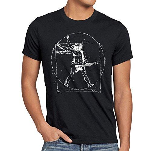 style3 Da Vinci Rock Herren T-Shirt Musik Festival, Größe:L, Farbe:Schwarz