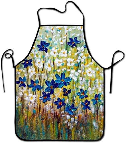 MODORSAN Wildflowers Originale Impasto Delantal de chef de cocina unisex - Delantal de chef para cocinar, hornear, hacer manualidades, jardinería y barbacoa - Wildflowers Originale Impasto