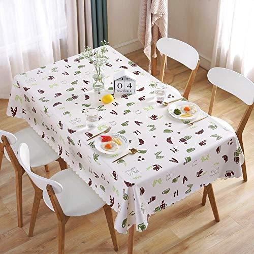 Tafelkleedenset met tafelkleden en servetten, rechthoekig, eenvoudig, vierkant, antikalk-coating, wegwerp-tafelkleed, roze, liefde, 120 x 170 cm