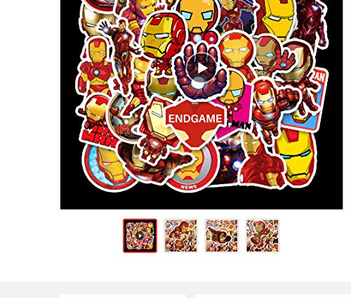 Votgl Ironman Cartoon Sticker Marvel Avengers voor laptop, auto, styling, telefoon, fiets, bagage, PVC, waterdichte sticker